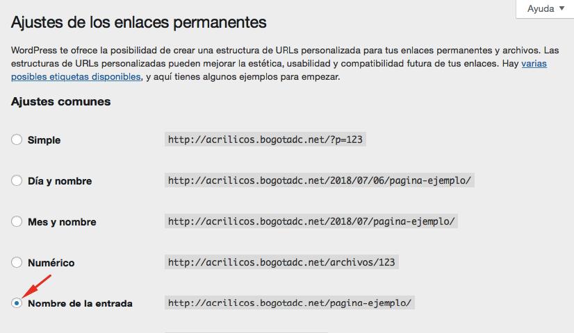 Consejo SEO de WordPress - cambia tus enlaces permanentes