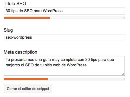 Consejos de SEO WordPress: uso del fragmento de optimización de yoast